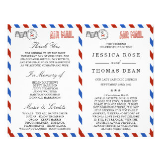 The Modern Airmail Wedding Collection 21.5 Cm X 28 Cm Flyer