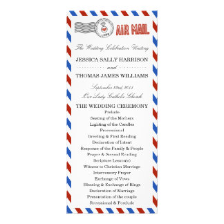 The Modern Airmail Wedding Collection Full Color Rack Card