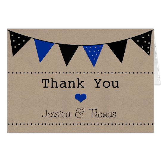 The Modern Blue Bunting Wedding Collection Card