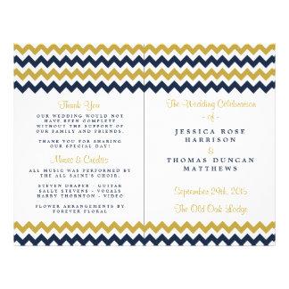 The Modern Chevron Wedding Collection- Navy & Gold 21.5 Cm X 28 Cm Flyer