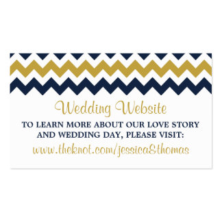 The Modern Chevron Wedding Collection- Navy & Gold Pack Of Standard Business Cards