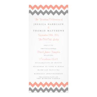 The Modern Chevron Wedding Collection- Pink & Grey Rack Card