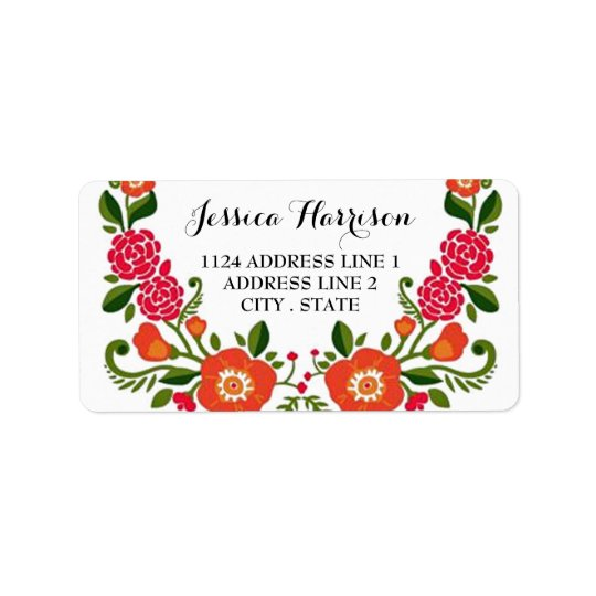 The Modern Floral Wreath Wedding Collection Label