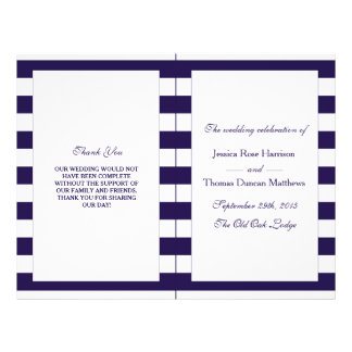The Modern Navy Stripe Wedding Collection 21.5 Cm X 28 Cm Flyer