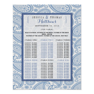 The Modern Paisley Wedding Collection - Blue Poster