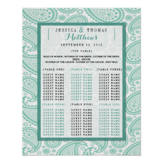 The Modern Paisley Wedding Collection - Green Poster