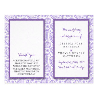 The Modern Paisley Wedding Collection - Purple 21.5 Cm X 28 Cm Flyer