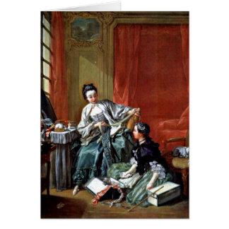 The Modiste By Francois Boucher Cards