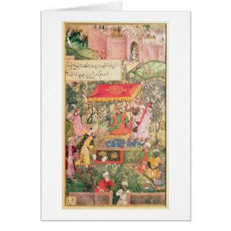 The Mogul Emperor Babur receives the envoys Uzbeg Card