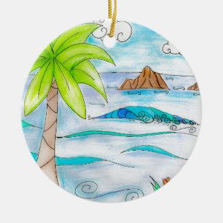 The Moks - Mokulua Islands Hawaii Christmas Ornament