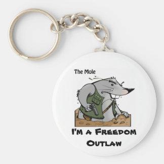 The Mole Outlaw Keychain