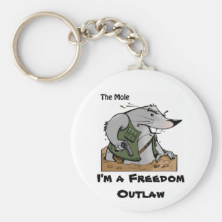 The Mole Outlaw Keychain