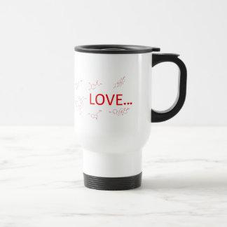 The Molecules of Love... Travel Mug