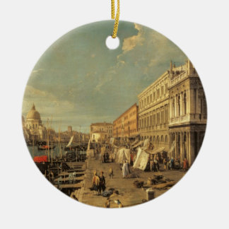The Molo and the Zecca, Venice (oil on canvas) Christmas Ornament