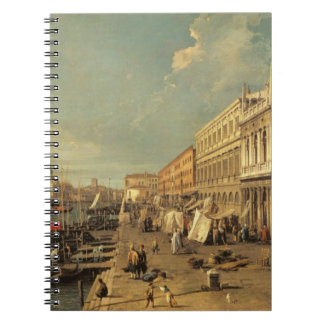 The Molo and the Zecca, Venice (oil on canvas) Notebook