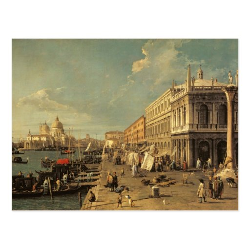 The Molo and the Zecca, Venice (oil on canvas) Post Card