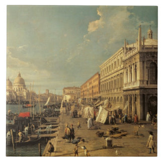 The Molo and the Zecca, Venice (oil on canvas) Tile