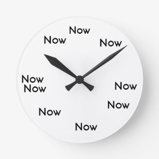 The Moment is Now clock