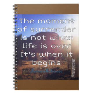 The moment of surrender notebook