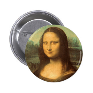 The Mona Lisa by Leonardo da Vinci 6 Cm Round Badge