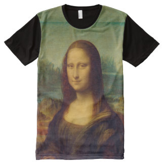 The Mona Lisa By Leonardo Da Vinci All-Over Print T-Shirt