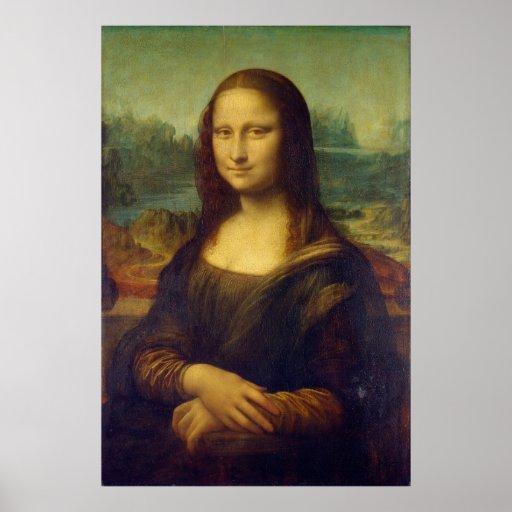 The Mona Lisa La Joconde by Leonardo Da Vinci Poster