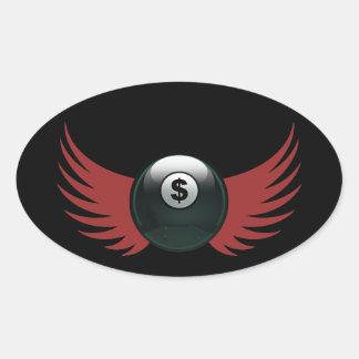 The Money Ball Oval Sticker