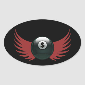 The Money Ball Oval Stickers
