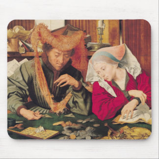 The Money Changer and his Wife, 1539 Mouse Mat