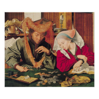 The Money Changer and his Wife, 1539 Poster