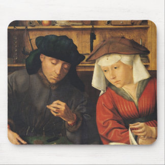 The Money Lender and his Wife, 1514 Mouse Pad