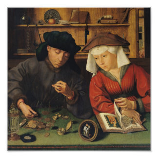 The Money Lender and his Wife, 1514 Posters