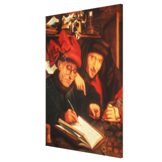 The Money Lenders, after Massys Canvas Print