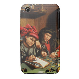 The Money Lenders (oil on oak panel) iPhone 3 Case-Mate Cases