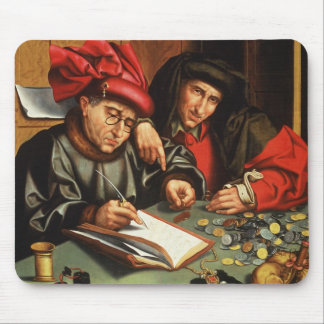 The Money Lenders (oil on oak panel) Mouse Pad