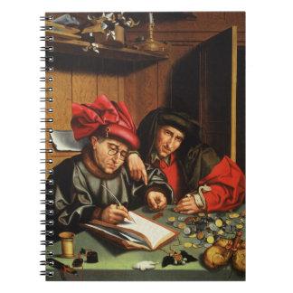 The Money Lenders (oil on oak panel) Note Books