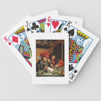 The Money Lenders oil on oak panel Bicycle Poker Cards