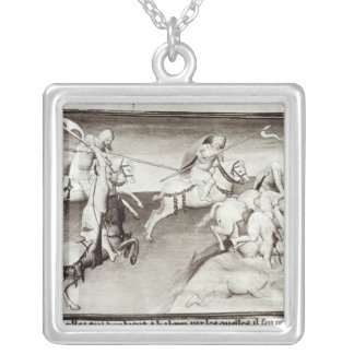The Mongol leader, Hulagu, khan of the Ilkhanate Silver Plated Necklace