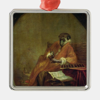 The Monkey Antiquarian, 1740 Christmas Ornament