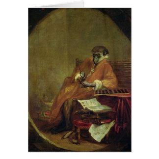The Monkey Antiquarian, 1740 Greeting Card