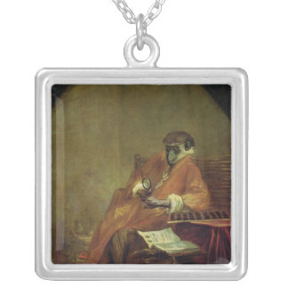 The Monkey Antiquarian, 1740 Silver Plated Necklace