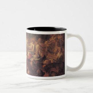 The Monkey Freemasons Two-Tone Coffee Mug