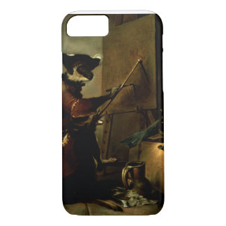 The Monkey Painter, 1740 (oil on canvas) iPhone 8/7 Case