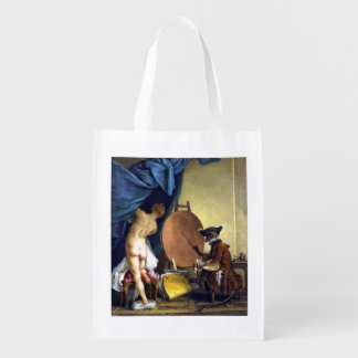 The Monkey Painter Market Tote