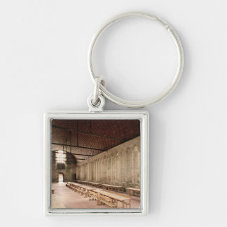 The Monks's Refectory Silver-Colored Square Key Ring