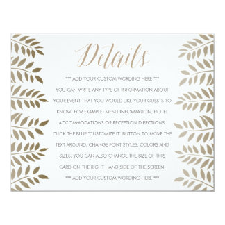 The Monochrome Fern Woodland Wedding Collection 11 Cm X 14 Cm Invitation Card