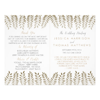 The Monochrome Fern Woodland Wedding Collection 21.5 Cm X 28 Cm Flyer