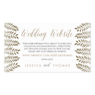The Monochrome Fern Woodland Wedding Collection Pack Of Standard Business Cards