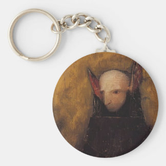 The Monster by Odilon Redon Key Ring