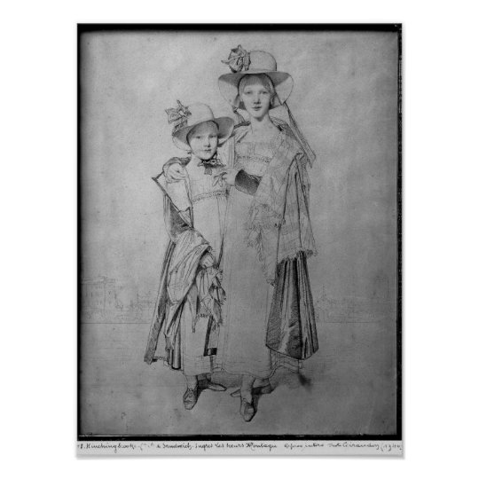 The Montagu Sisters in Rome, 1815 Poster